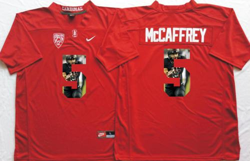 Cardinal #5 Christian McCaffrey Red Player Fashion Stitched NCAA Jersey