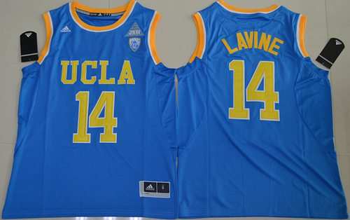 Bruins #14 Zach LaVine Blue Basketball Stitched NCAA Jersey