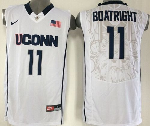 Huskies #11 Ryan Boatright White Basketball Stitched NCAA Jersey
