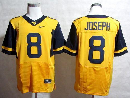 Mountaineers #8 Karl Joseph Gold Stitched NCAA Jersey