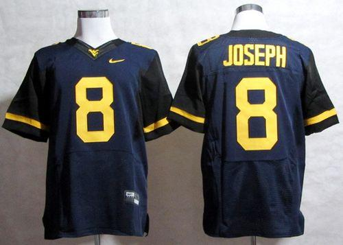 Mountaineers #8 Karl Joseph Navy Blue Stitched NCAA Jersey