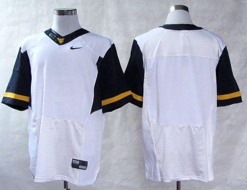 Mountaineers Blank White Stitched NCAA Jersey