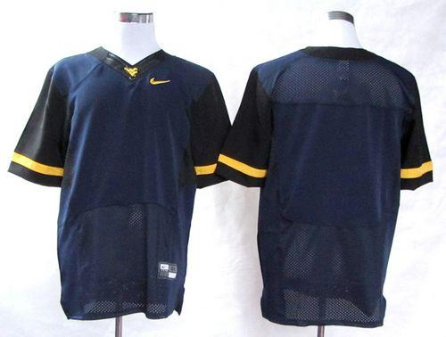 Mountaineers Blank Navy Blue Stitched NCAA Jersey