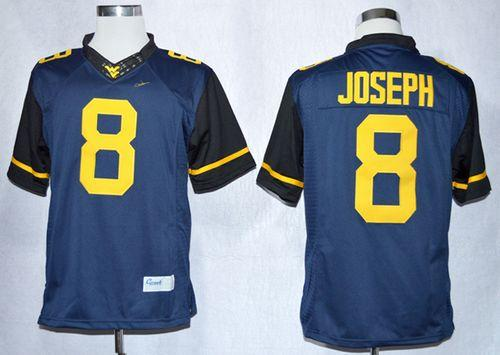 Mountaineers #8 Karl Joseph Navy Blue Limited Stitched NCAA Jersey