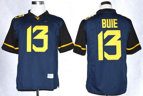 Mountaineers #13 Andrew Buie Navy Blue Limited Stitched NCAA Jersey