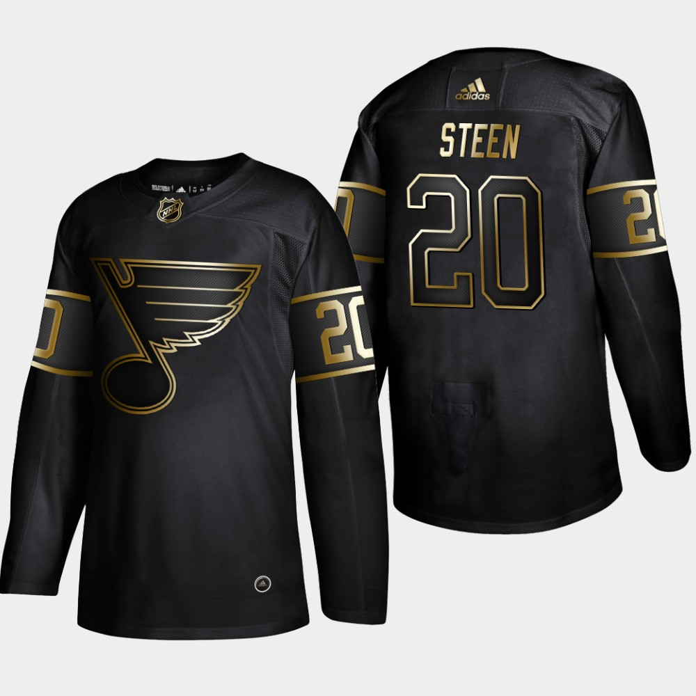 Men's St. Louis Blues #20 Alexander Steen 2019 Black Golden Edition Stitched NHL Jersey