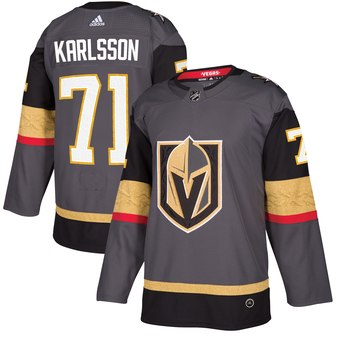 Men's Adidas Vegas Golden Knights #71 William Karlsson Grey Stitched NHL Jersey