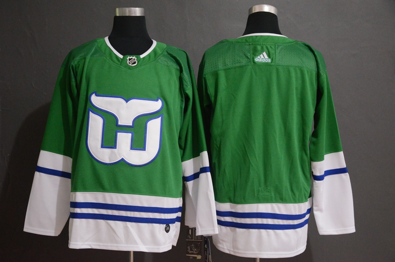 Men's Hartford Whalers Green Stitched NHL Jersey