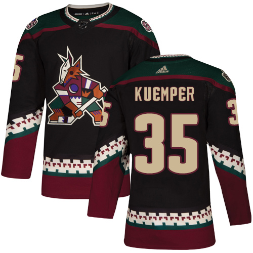 Men's Arizona Coyotes #35 Darcy Kuemper Black Stitched NHL Jersey