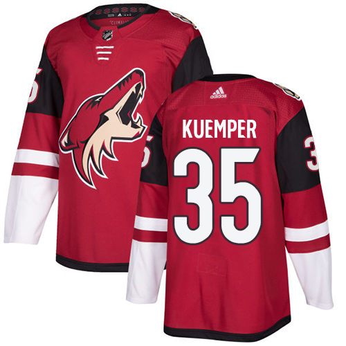 Men's Arizona Coyotes #35 Darcy Kuemper Burgundy Red 2018 Season Home Stitched NHL Jersey