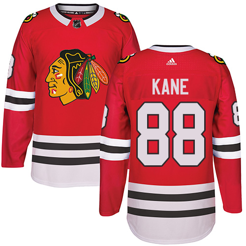 Men's Chicago Blackhawks #88 Patrick Kane Red Adidas Stitched NHL Jersey