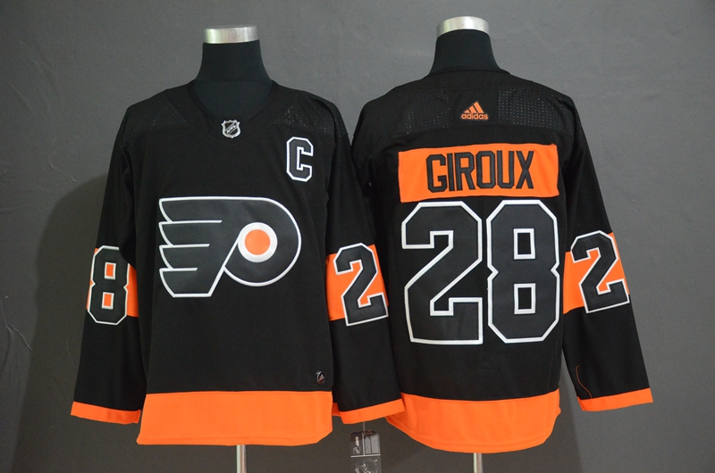 Men's Philadelphia Flyers #28 Claude Giroux Black Stitched NHL Jersey