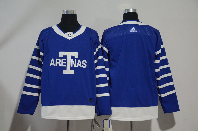 Men's Toronto Maple Leafs Blue 1918 Arenas Throwback Stitched NHL Jersey
