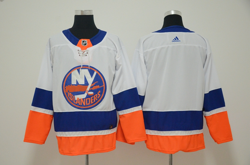 Men's New York Islanders White Stitched NHL Jersey