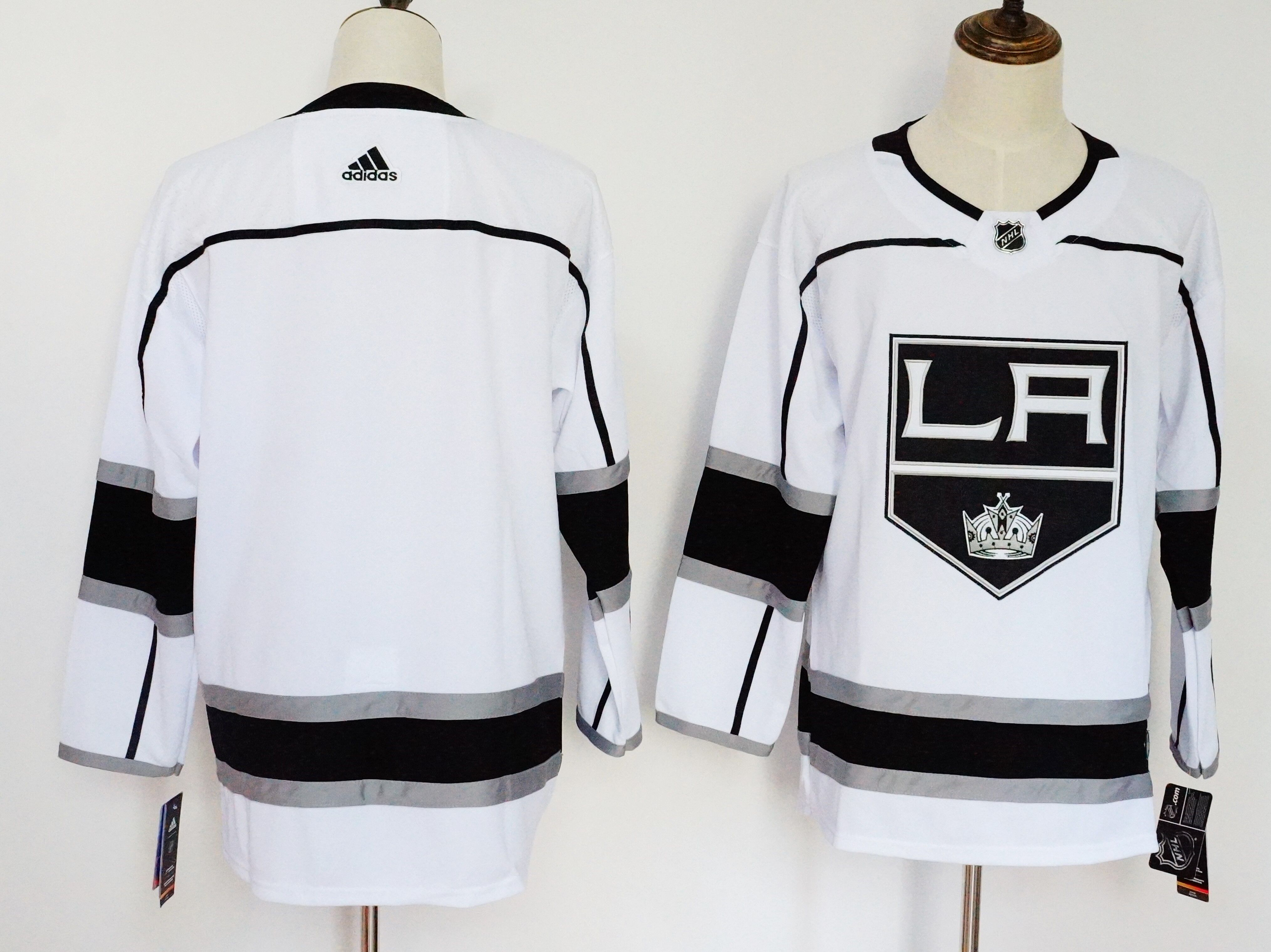 Men's Adidas Los Angeles Kings White Stitched NHL Jersey