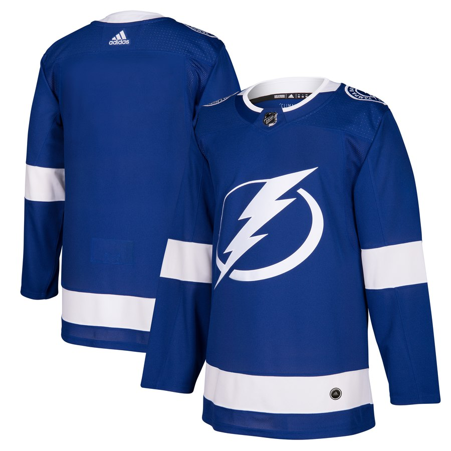 Men's Adidas Tampa Bay Lightning Blue Stitched NHL Jersey