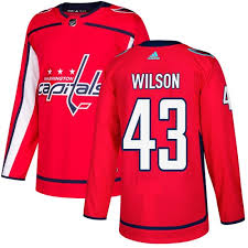 Men's Adidas Washington Capitals #43 Tom Wilson Red Stitched NHL Jersey