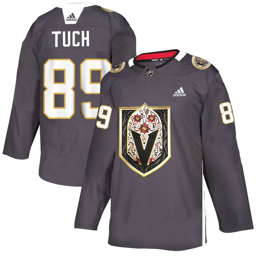 Men's Vegas Golden Knights #89 Alex Tuch Grey Latino Heritage Night Stitched NHL Jersey