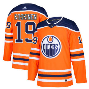 Men's Edmonton Oilers #19 Mikko Koskinen Orange Stitched NHL Jersey
