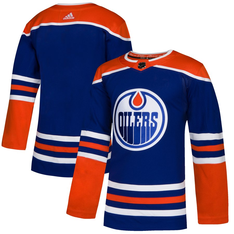 Men's Edmonton Oilers Royal Blue Blank Stitched NHL Jersey