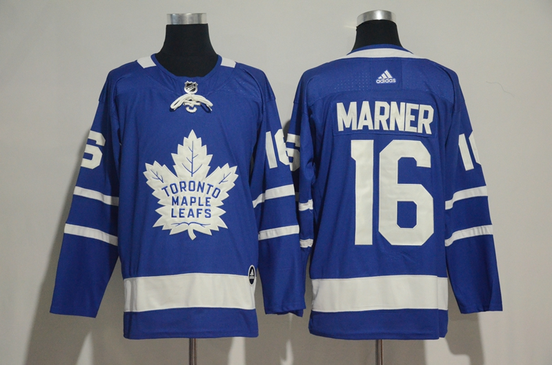 Men's Toronto Maple Leafs #16 Mitchell Marner Blue Adidas Stitched NHL Jersey
