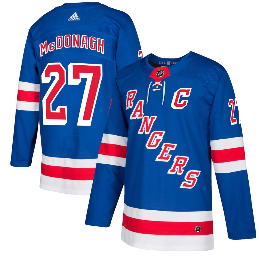 Men's Adidas New York Rangers #27 Ryan McDonagh Royal Blue Stitched NHL Jersey