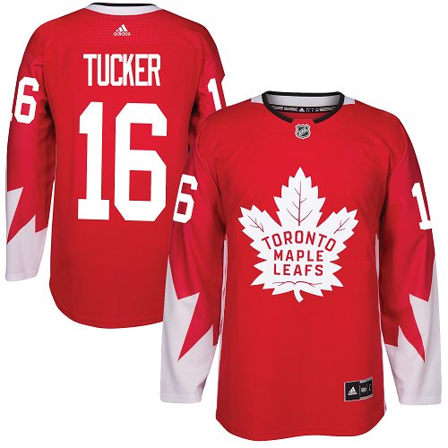 Men's Toronto Maple Leafs #16 Mitchell Marner Red Canada Stitched NHL Jersey