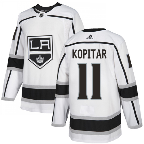 Men's Los Angeles Kings #11 Anze Kopitar White Stitched NHL Jersey