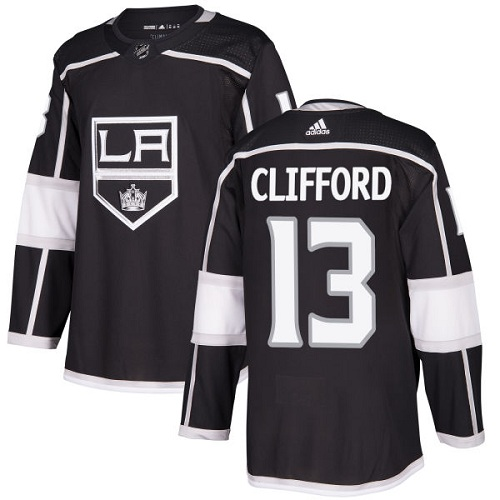 Men's Los Angeles Kings #13 Kyle Clifford Black Stitched NHL Jersey