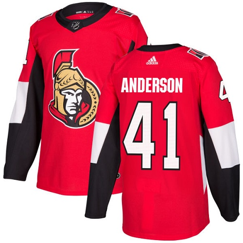 Men's Adidas Ottawa Senators #41 Craig Anderson Red Stitched NHL Jersey