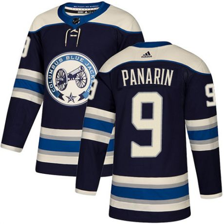 Men's Columbus Blue Jackets #9 Artemi Panarin Navy Blue Stitched NHL Jersey