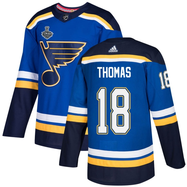Men's St. Louis Blues #18 Robert Thomas Blue 2019 Stanley Cup Champions Stitched NHL Jersey