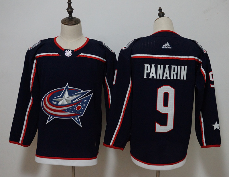 Men's Adidas Columbus Blue Jackets #9 Artemi Panarin Navy Stitched NHL Jersey