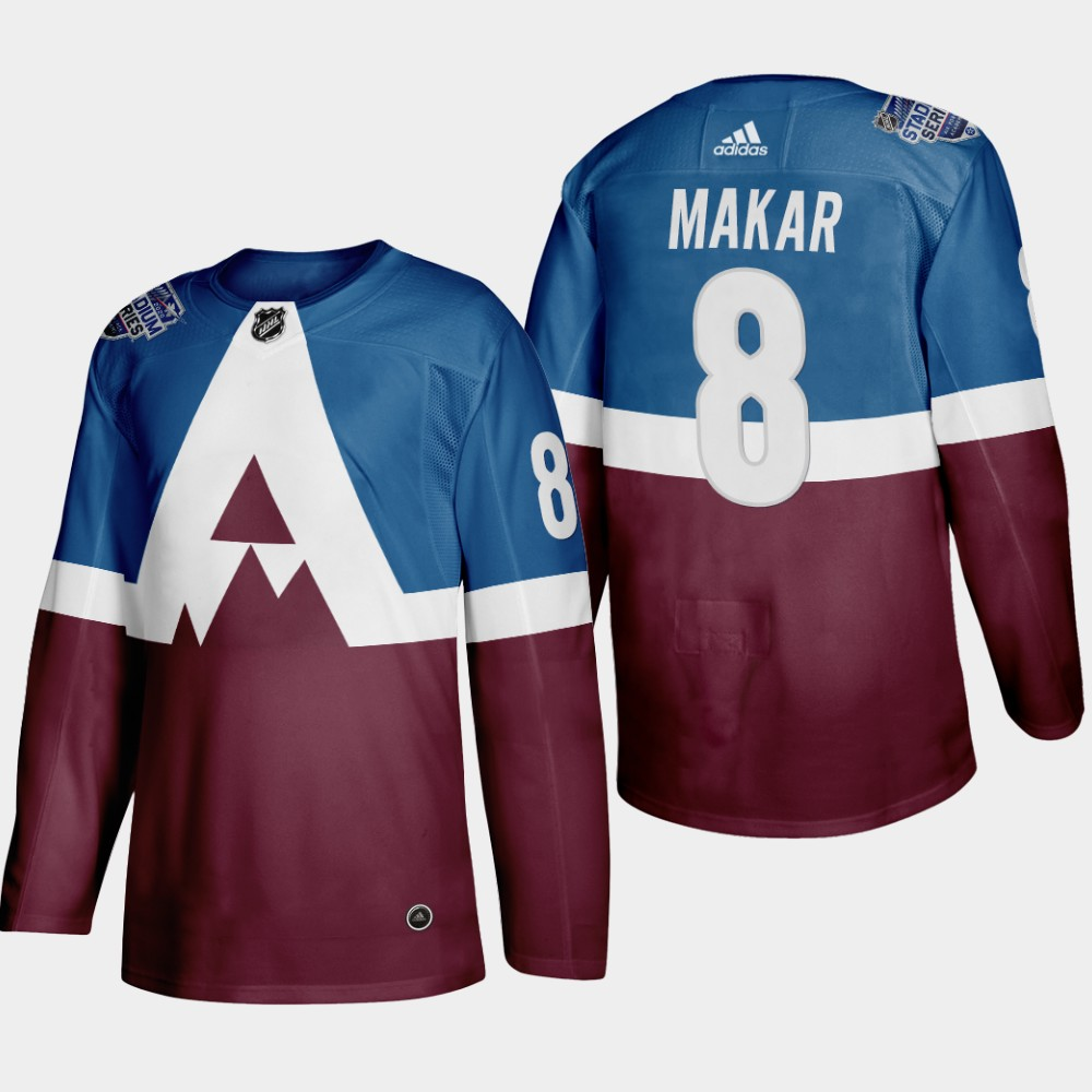 Men's Colorado Avalanche #8 Cale Makar 2020 Stadium Series Blue Stitched NHL Jersey