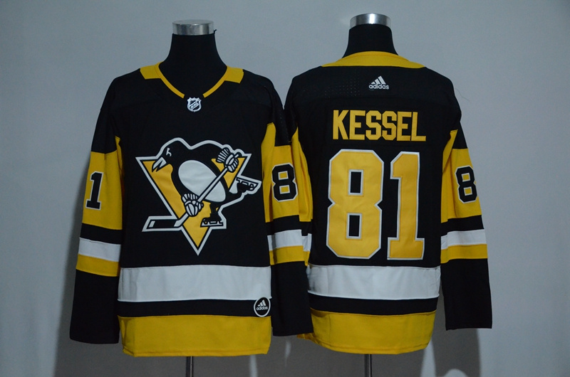 Men's Pittsburgh Penguins #81 Phil Kessel Black Adidas Stitched NHL Jersey