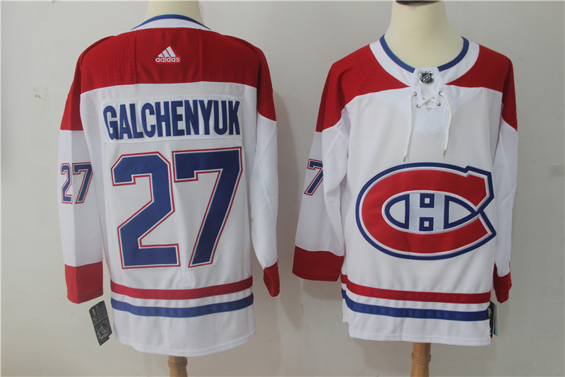 Men's Adidas Montreal Canadiens #27 Alex Galchenyuk White Stitched NHL Jersey