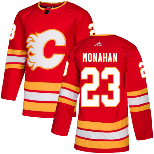 Men's Calgary Flames #23 Sean Monahan Red Stitched NHL Jersey