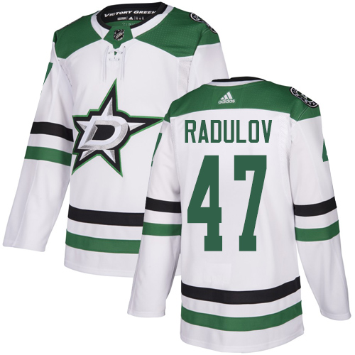Men's Dallas Stars #47 Alexander Radulov White Stitched NHL Jersey
