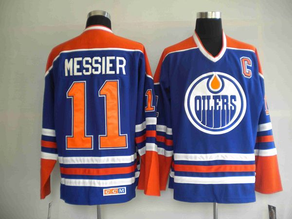 Oilers #11 Mark Messier Stitched Light Blue NHL Jersey