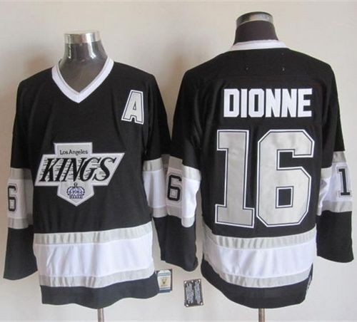 Kings #16 Marcel Dionne Black CCM Throwback Stitched NHL Jersey