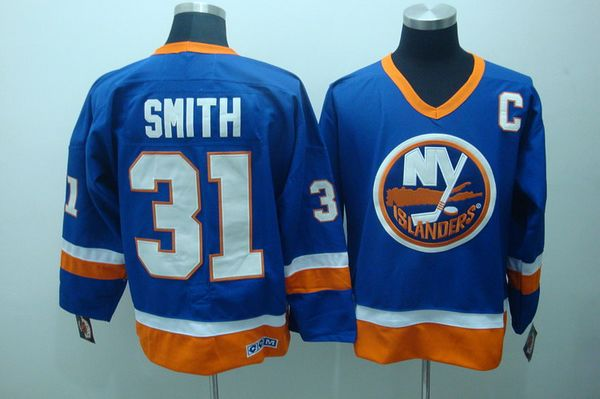 Islanders #31 Billy Smith Stitched Baby Blue CCM Throwback NHL Jersey