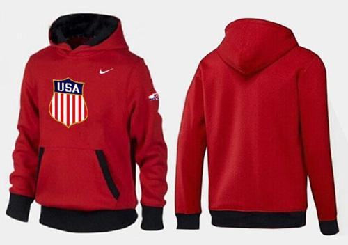 Olympic Team USA Pullover Hoodie Red & Black