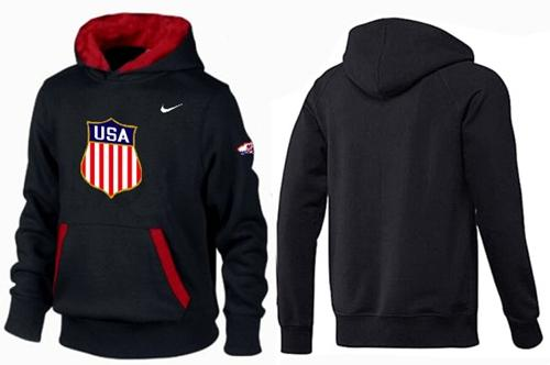 Olympic Team USA Pullover Hoodie Black & Red