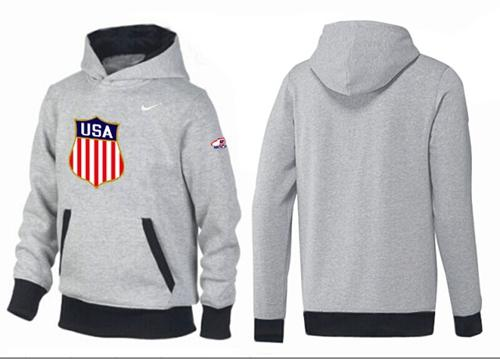 Olympic Team USA Pullover Hoodie Grey & Black