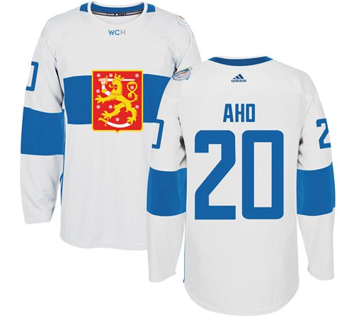 Team Finland #20 Sebastian Aho White 2016 World Cup Stitched NHL Jersey