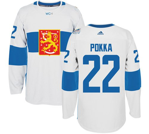 Team Finland #22 Ville Pokka White 2016 World Cup Stitched NHL Jersey