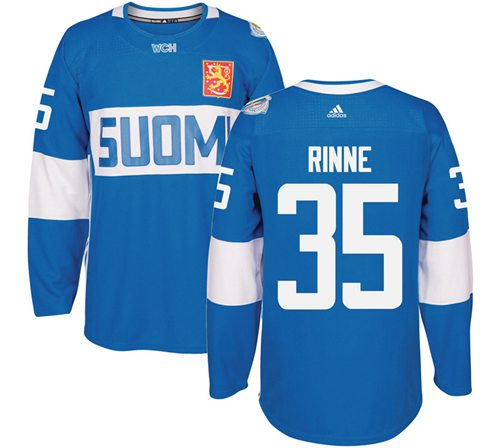 Team Finland #35 Pekka Rinne Blue 2016 World Cup Stitched NHL Jersey