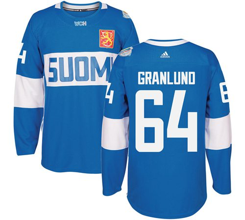 Team Finland #64 Mikael Granlund Blue 2016 World Cup Stitched NHL Jersey