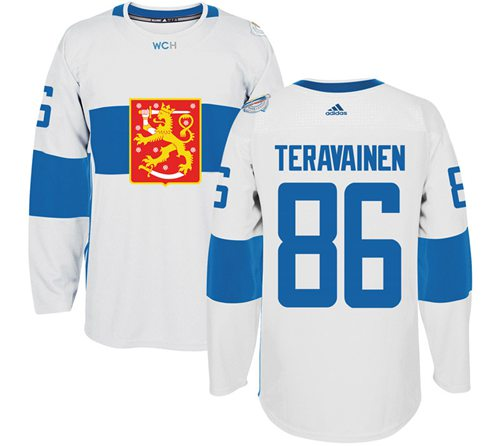 Team Finland #86 Teuvo Teravainen White 2016 World Cup Stitched NHL Jersey