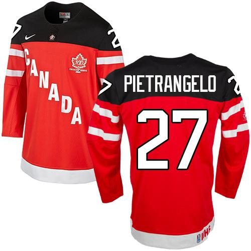 Olympic CA. #27 Alex Pietrangelo Red 100th Anniversary Stitched NHL Jersey
